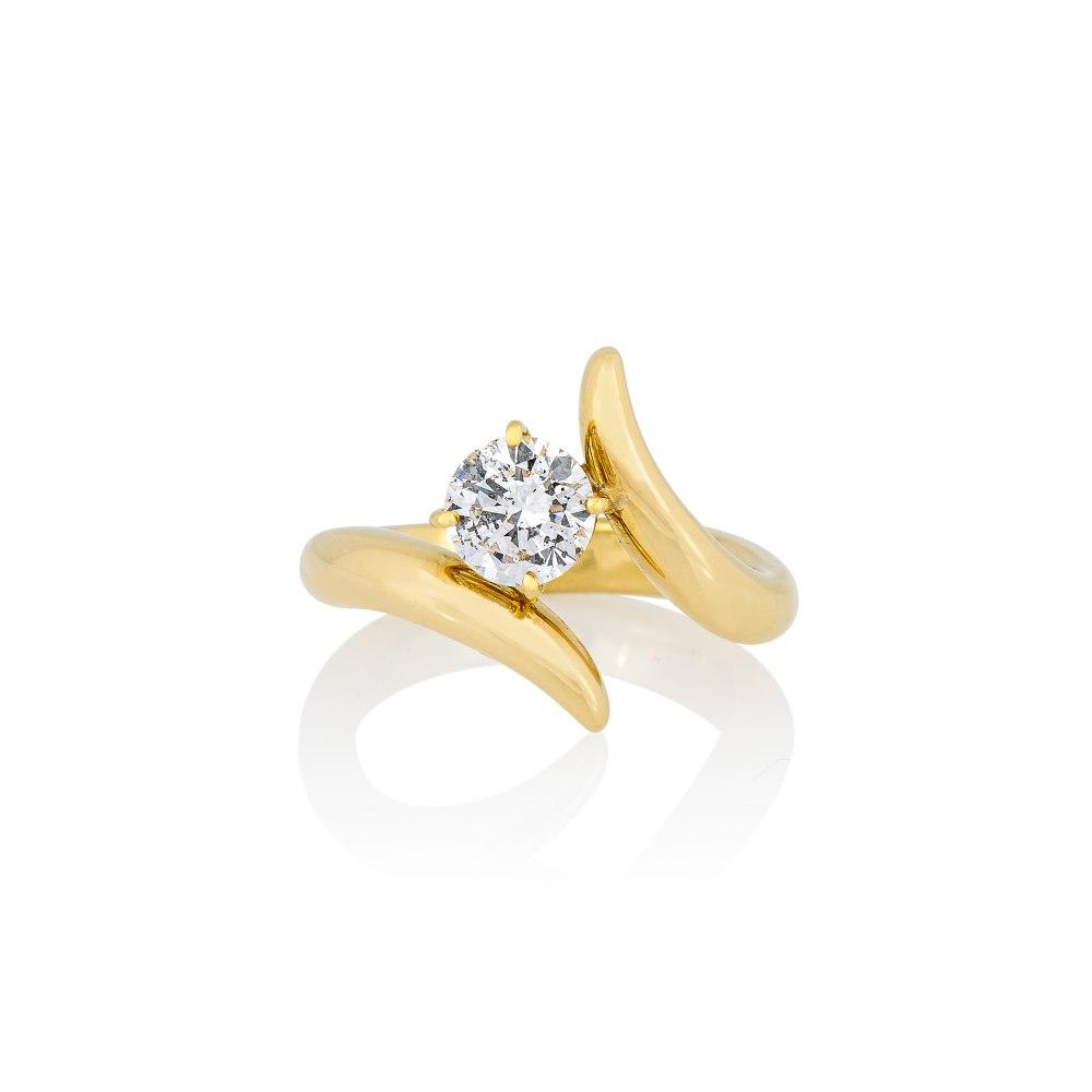 ANASTASIA KESSARIS Yellow Gold Wrap Brilliant Diamond Ring DAP192070