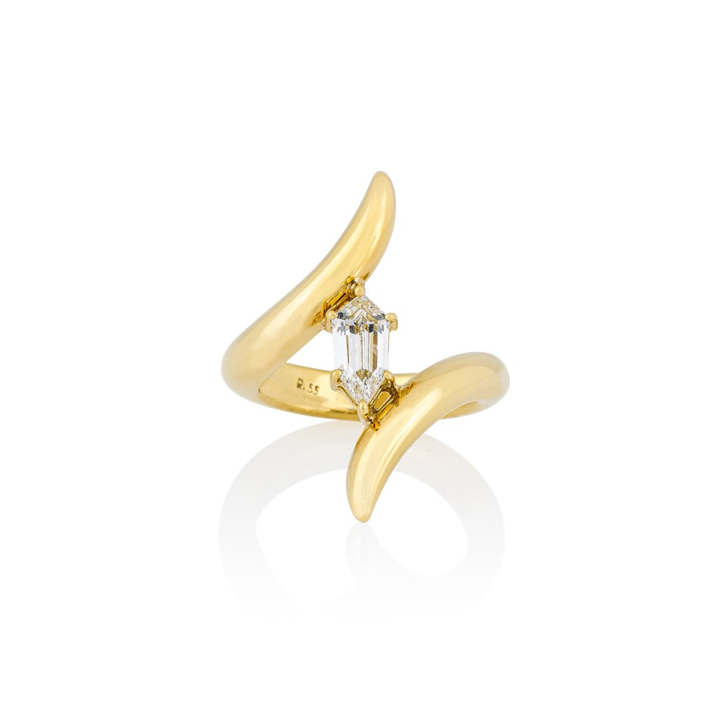 ANASTASIA KESSARIS Yellow Gold Wrap Kite Diamond Ring DAP200019