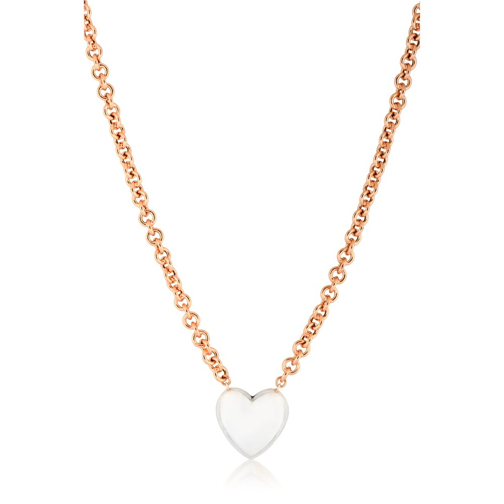 ANASTASIA KESSARIS Silver Heart Necklace DFP199020