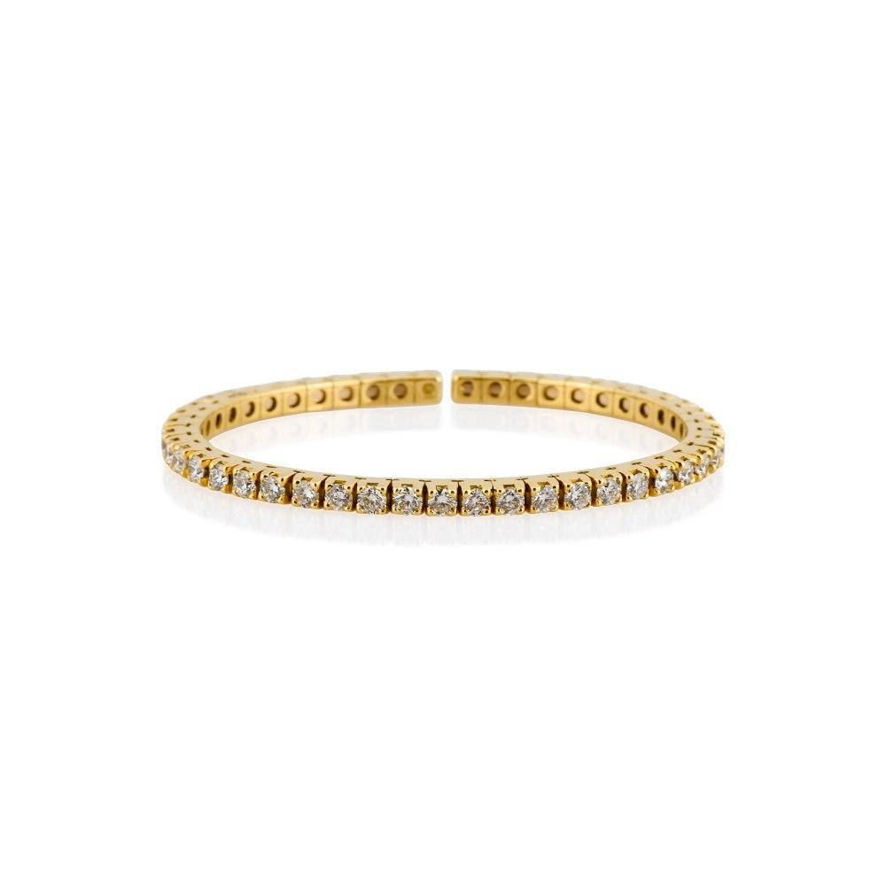 KESSARIS Infinity Brilliant Yellow Gold Diamond Cuff Bracelet BRP171770