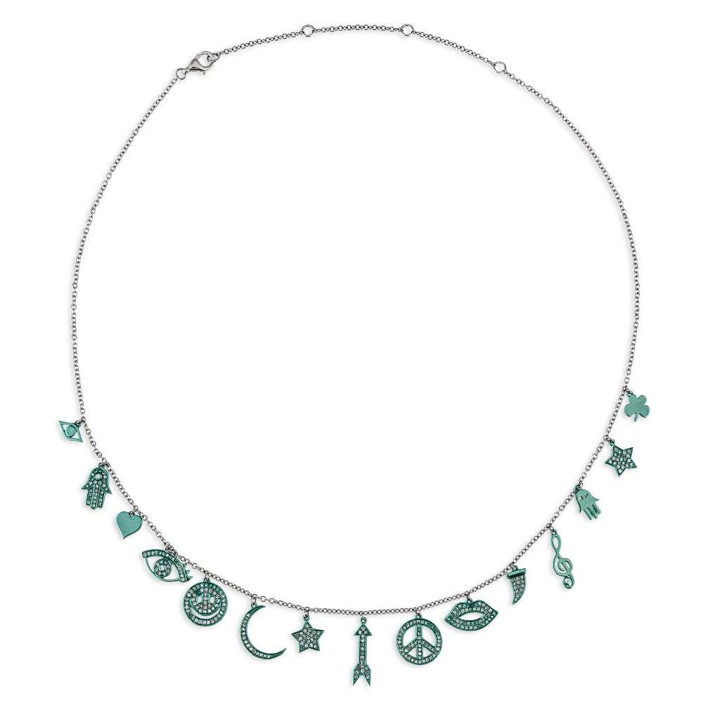 KESSARIS Multi Charm Diamond Necklace KOE192652