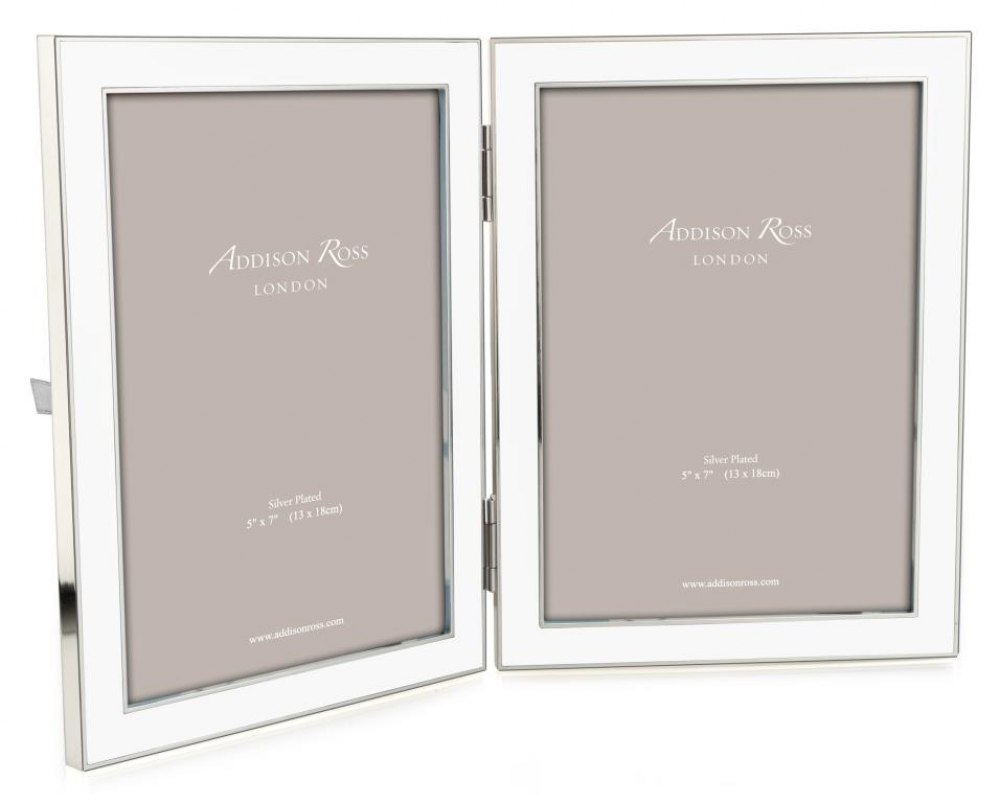 ADDISON ROSS White Double Picture Frame FR1111