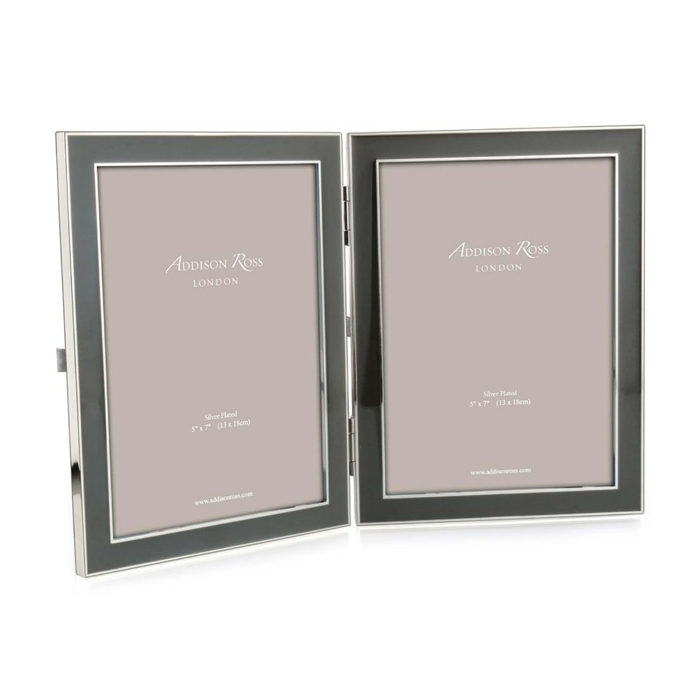 ADDISON ROSS Grey Double Picture Frame FR1115