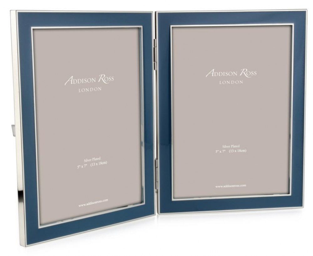 ADDISON ROSS Raf Blue Double Picture Frame FR1121