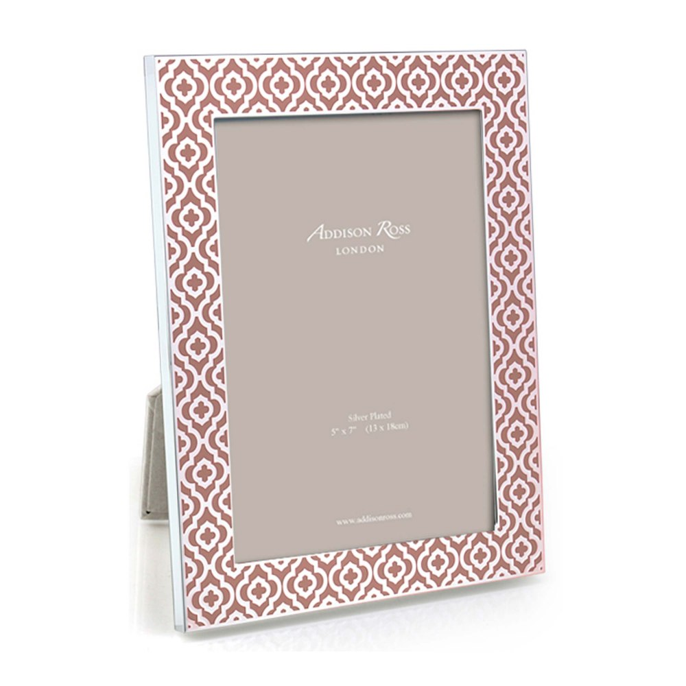 ADDISON ROSS Pink Picture Frame with Motif FR1431