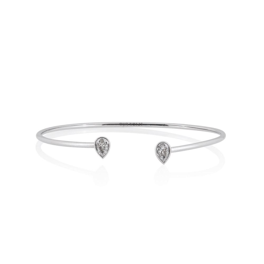 KESSARIS Double Drop Diamond Cuff Bracelet M4434