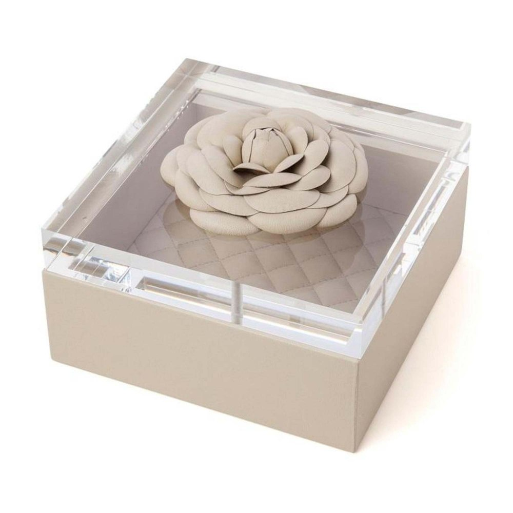 RIVIERE Beige Leather Box DFE209158-BE