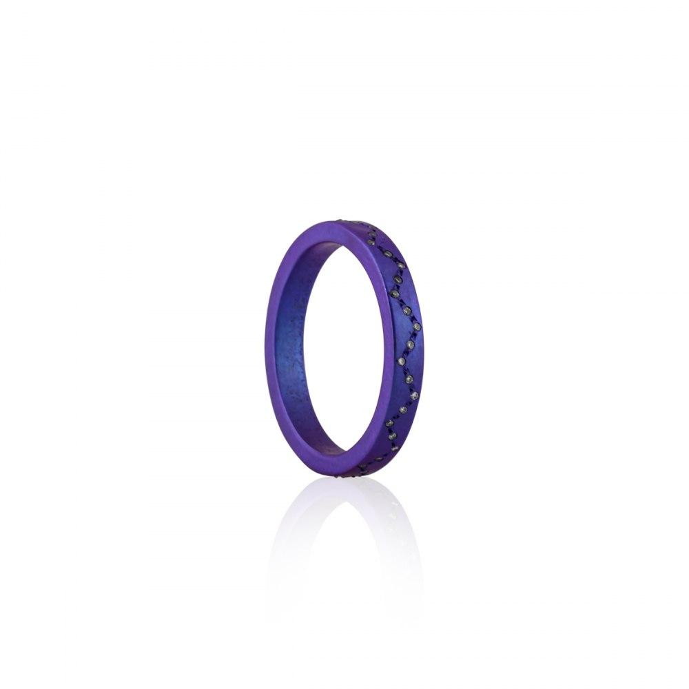 ANASTASIA KESSARIS Round and Around Purple Titanium Diamond Ring DAE170902