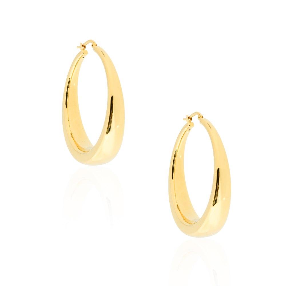 KESSARIS Gold Hoop Earrings SKE191709
