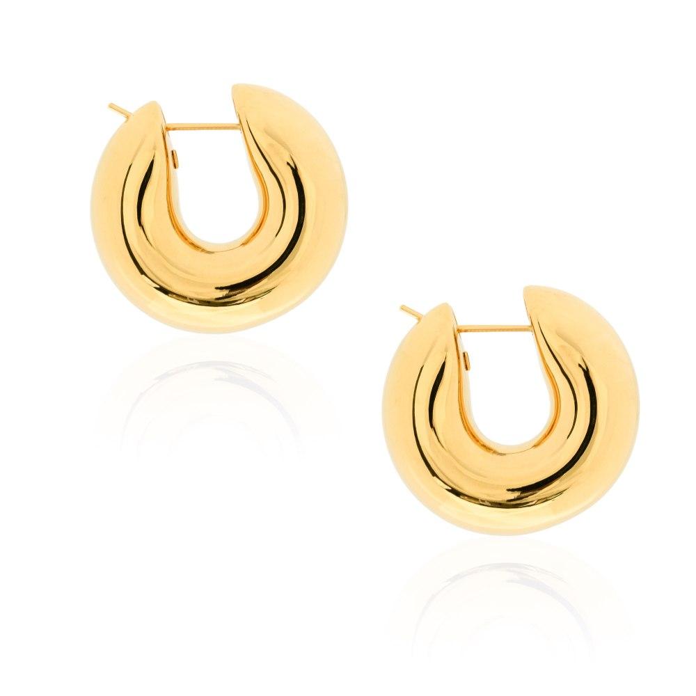 KESSARIS Gold Hoop Earrings SKE191714