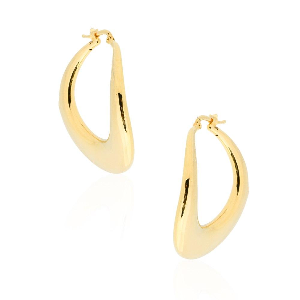 KESSARIS Gold Hoop Earrings SKE191716