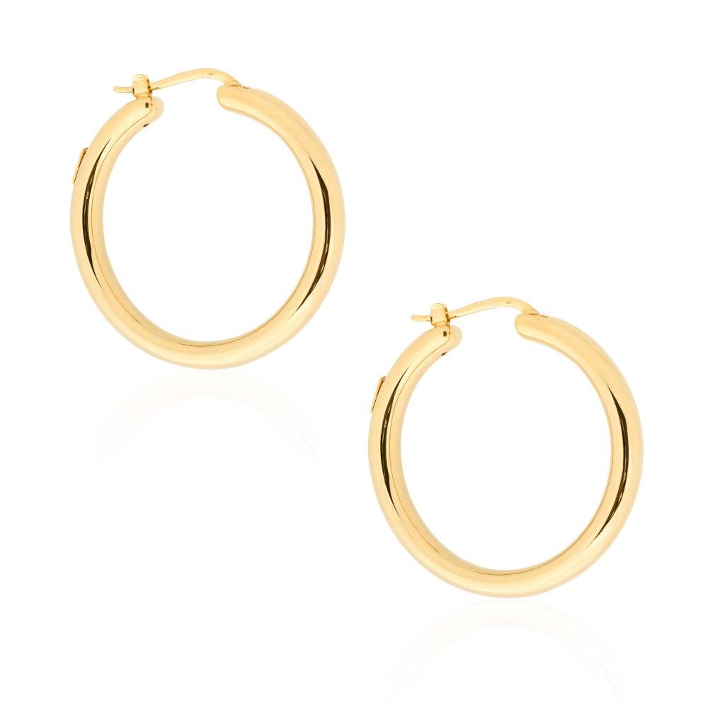 KESSARIS Gold Hoop Earrings SKE191718