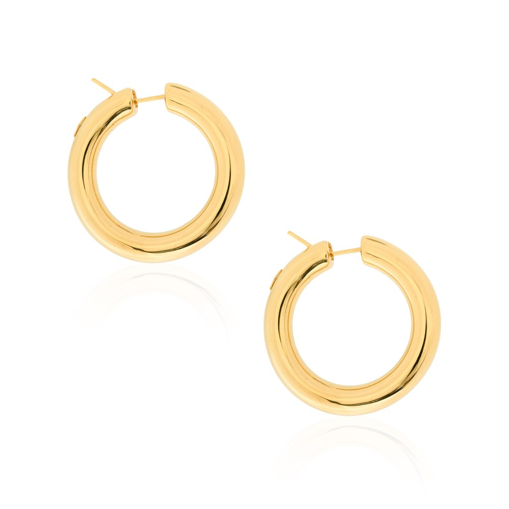 KESSARIS Gold Hoop Earrings SKE191719