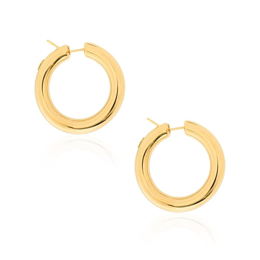 KESSARIS Gold Hoop Earrings SKE191719