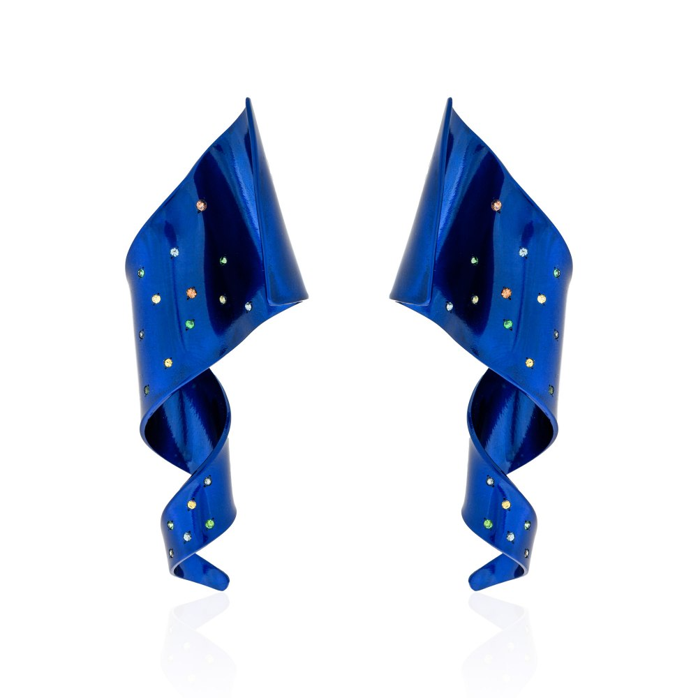 ANASTASIA KESSARIS Cosmic Feather Earrings SKP192006