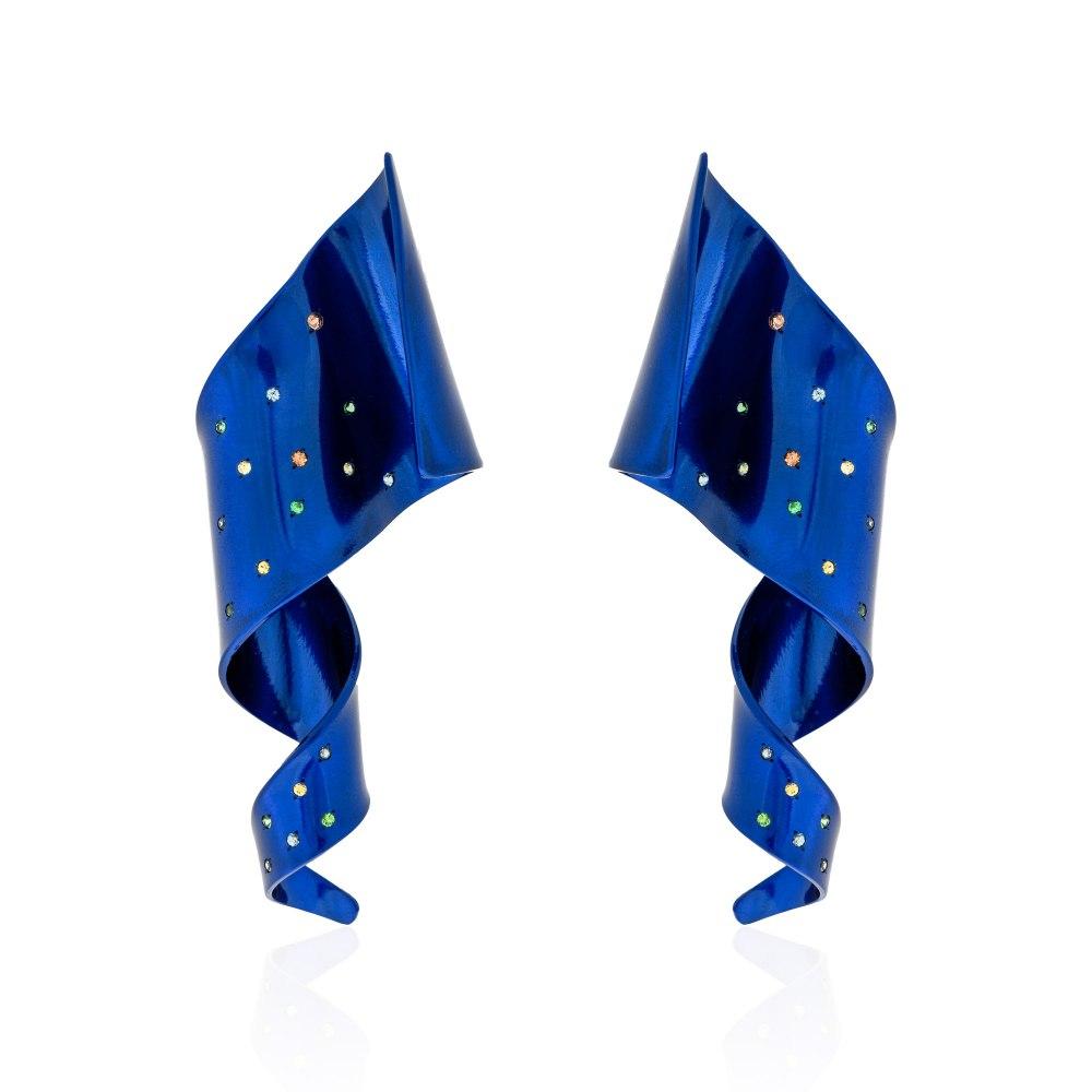 ANASTASIA KESSARIS Cosmic Feather Earrings SKP192006