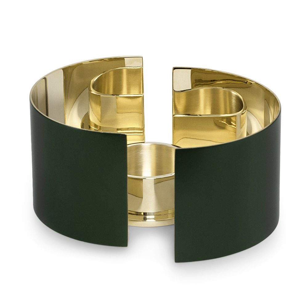 SKULTUNA Infinity Candle Holder Small Dark Green KHE189546