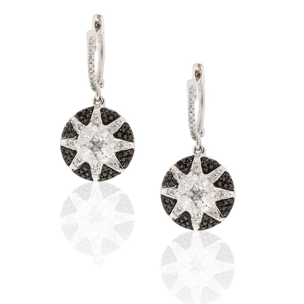 KESSARIS Diamond Star Drop Earrings SKE181768