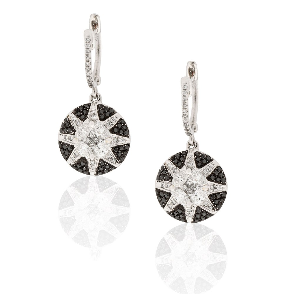 KESSARIS Diamond Star Drop Earrings SKE181768