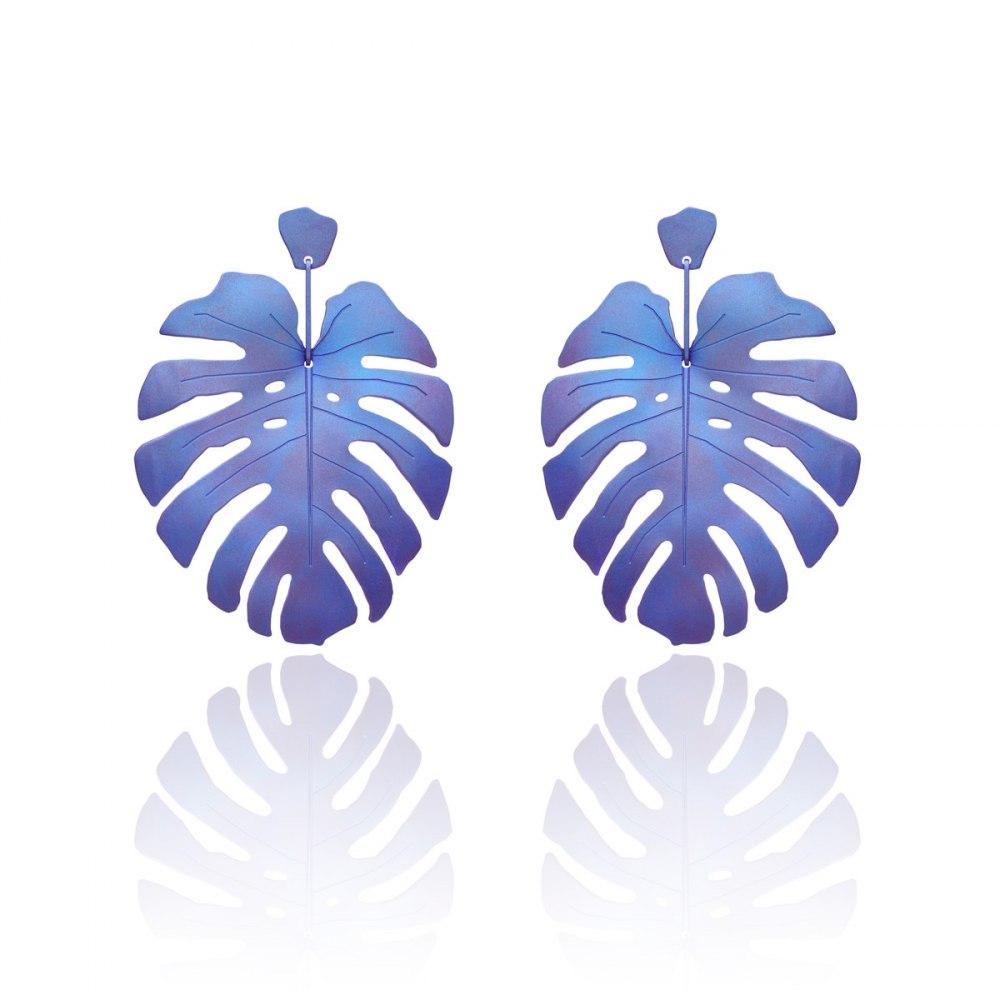 ANASTASIA KESSARIS Tropicalia Blue Purple Titanium Earrings SKP180086
