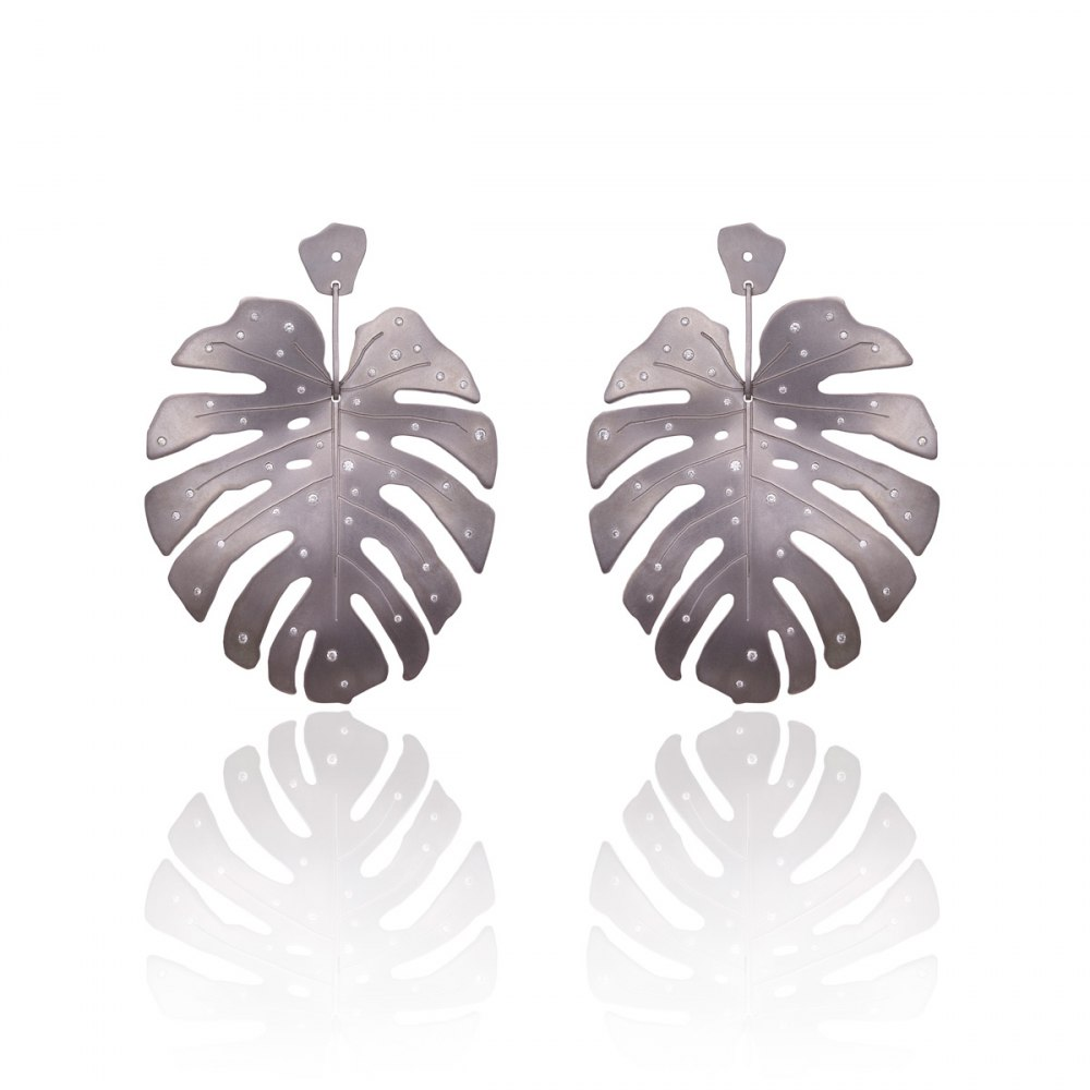 ANASTASIA KESSARIS Tropicalia Graphite Titanium Earrings SKP180140