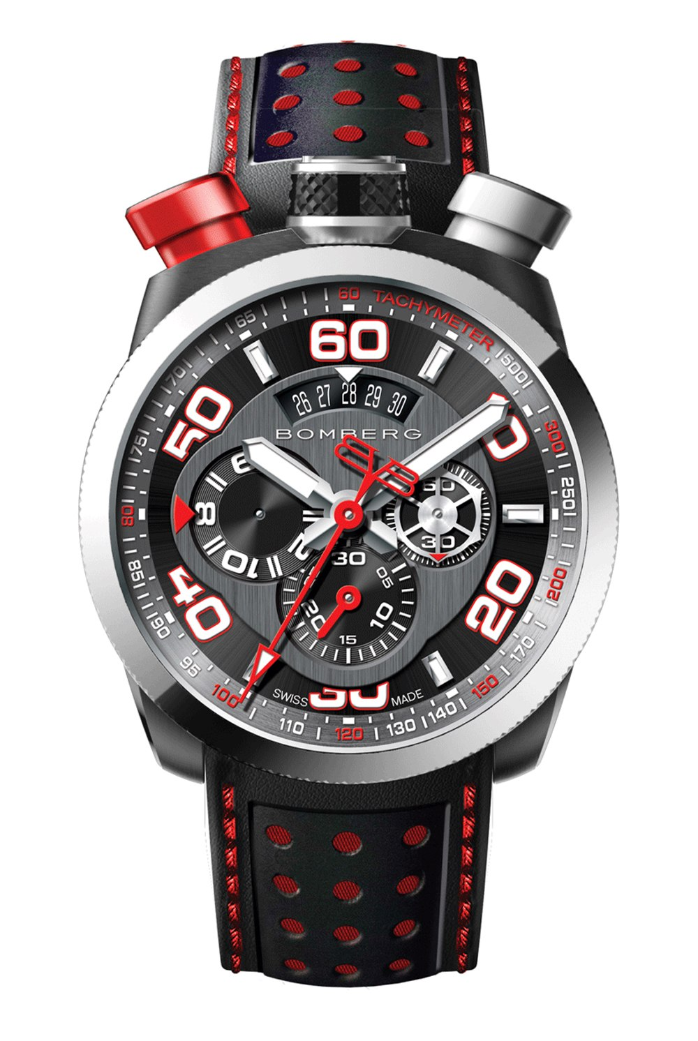 BOMBERG BOLT-68 Black & Red Chronograph 45mm BS45CHSP0113