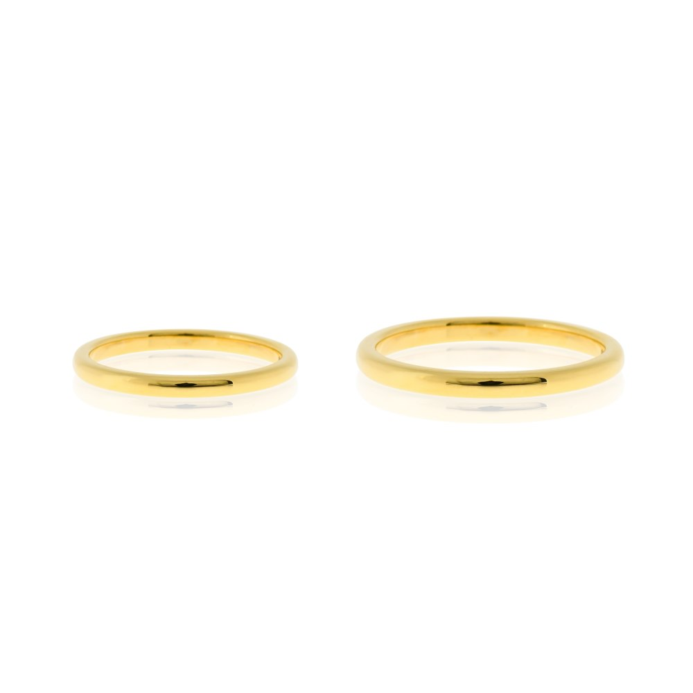 KESSARIS Slim Wedding Bands X03