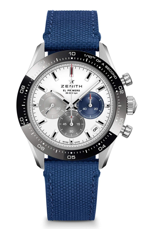 Kessaris-Zenith Chronomaster Sport-Blue Strap