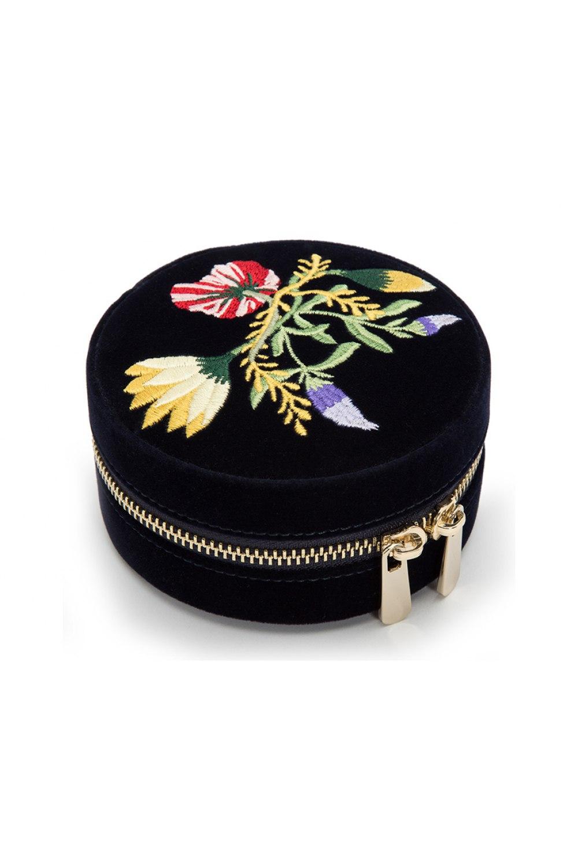 Zoe Travel Round Jewelry Case