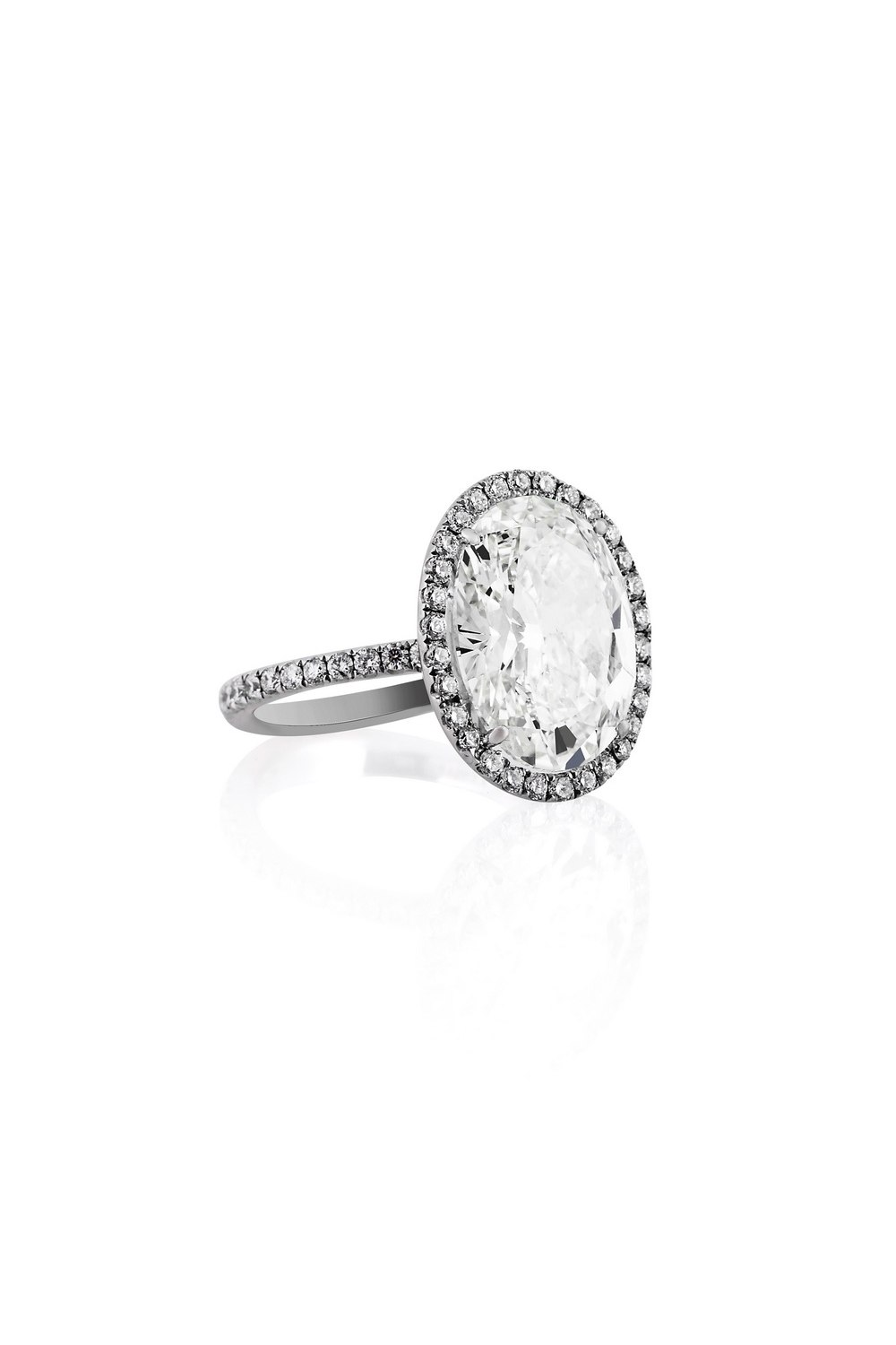Solitaire Oval Diamond Ring