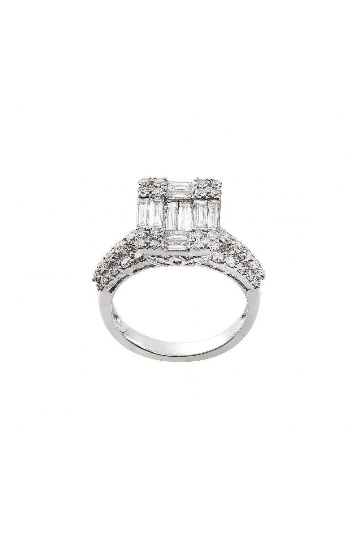 Diamond Cluster Emerald Ring