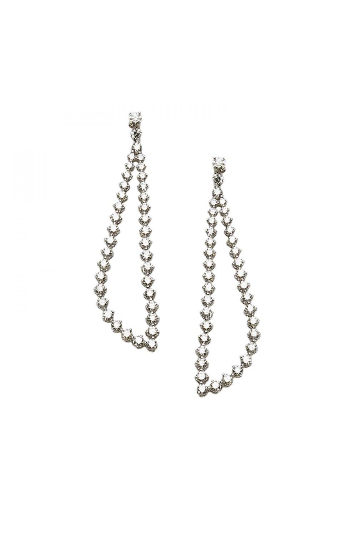 Geometric Diamond Drop Earrings