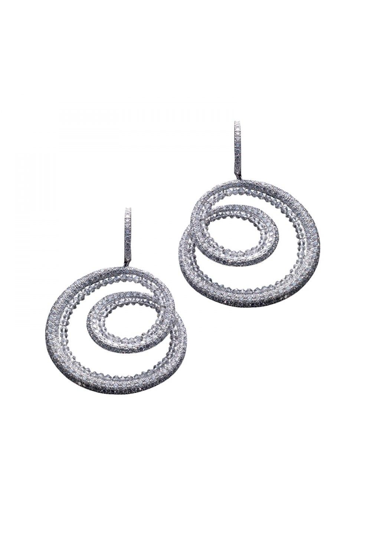 Diamond and Briolette Cut Hoop Earrings
