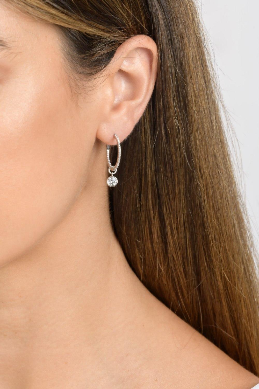 Initial Custom Diamond Earrings