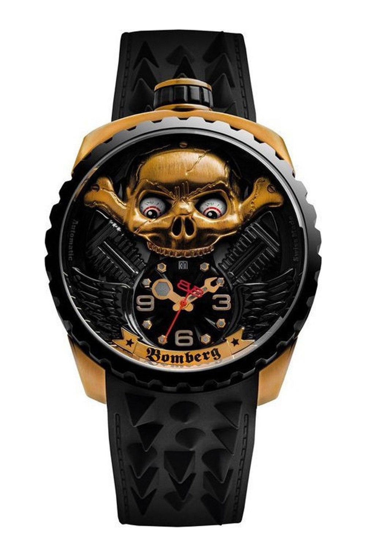 Bomberg BOLD-68 Skull Rider Hell Gold