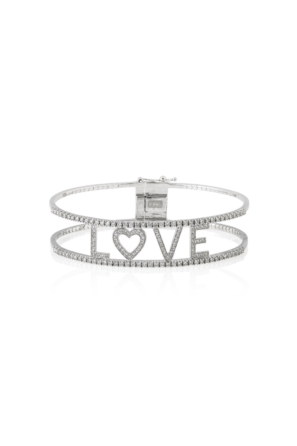 KESSARIS-Love Diamond Bangle Bracelet