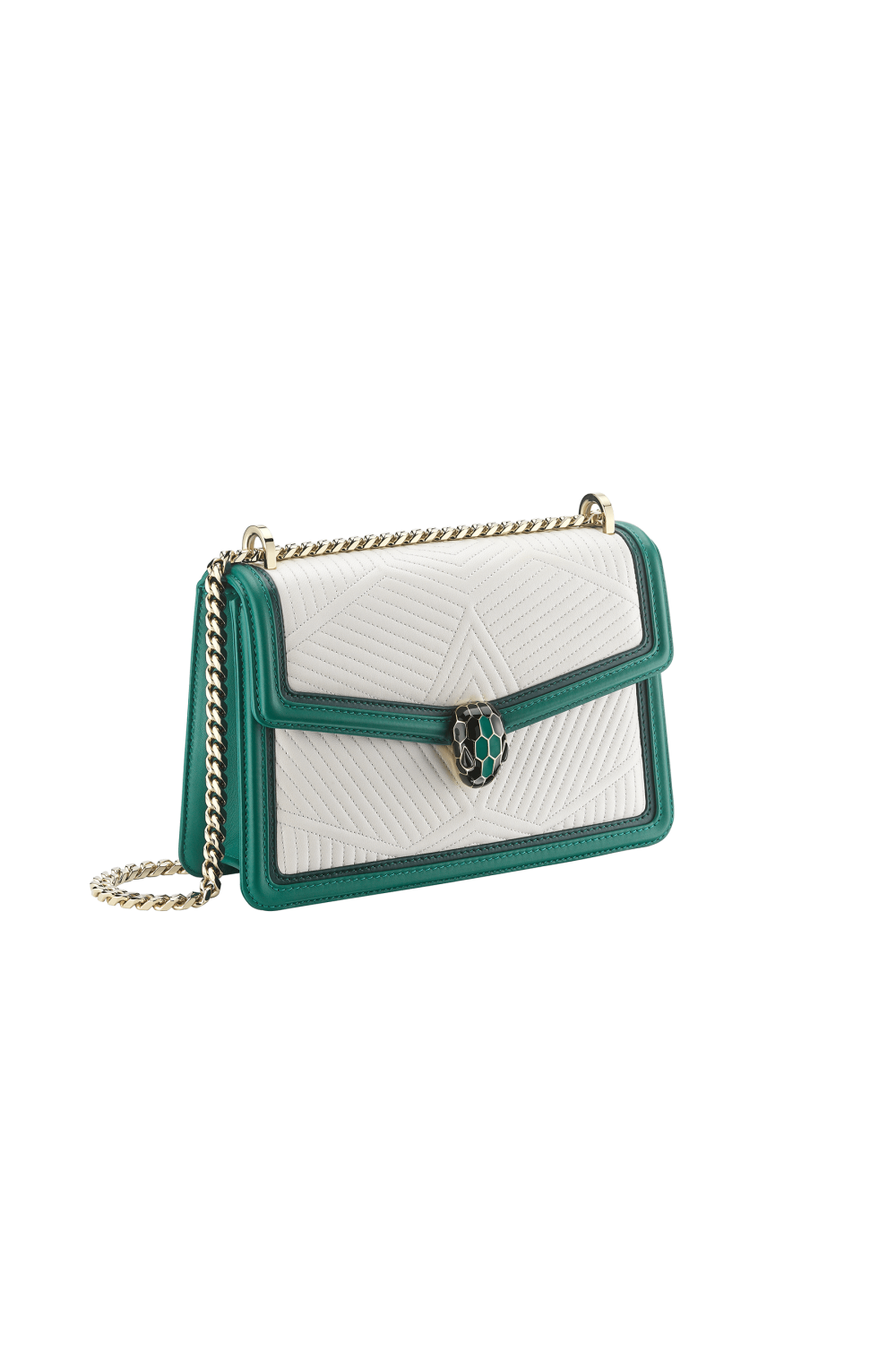 Bulgari Serpenti Diamond Blast Shoulder Bag Emerald Green