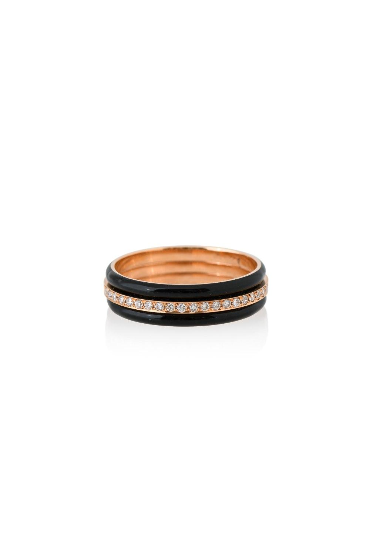 Black Band Diamond Ring