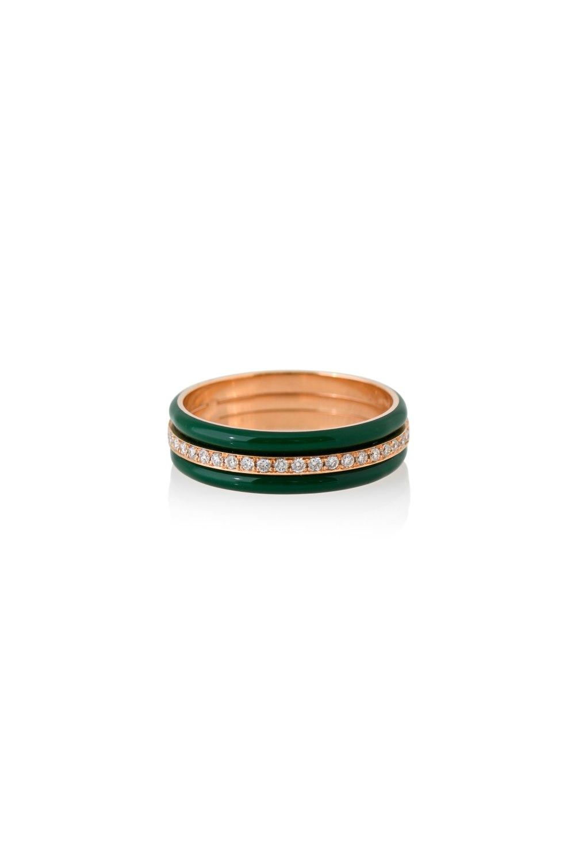 Green Band Diamond Ring