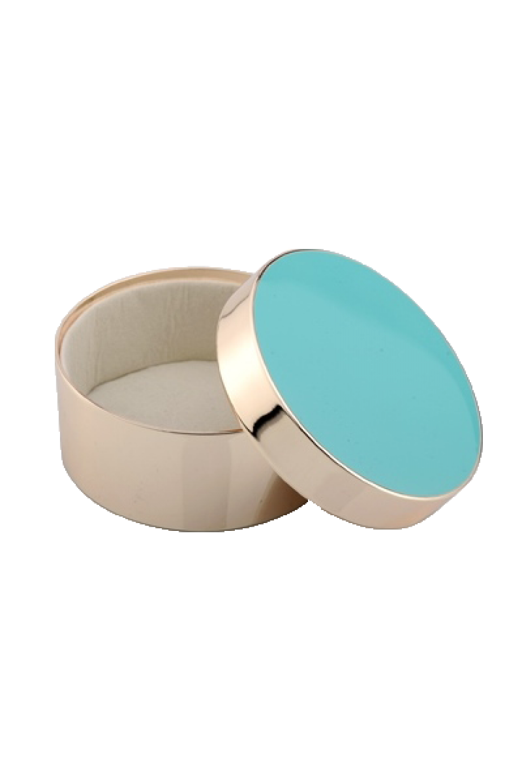 Turquoise Round Jewelry Box