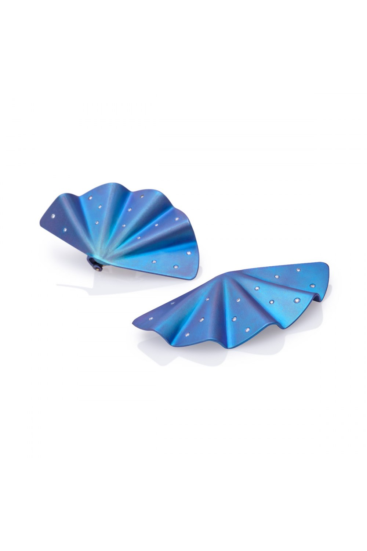 Geisha-Blue-Titanium-Diamond-Statement--Earrings-Long-Length-SKP170572-2