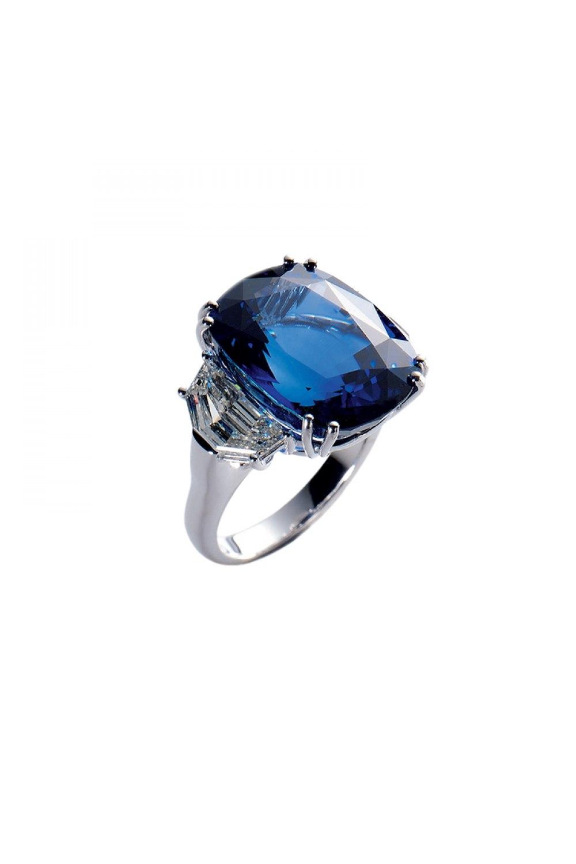 Natural Cushion Cut Sapphire Ring