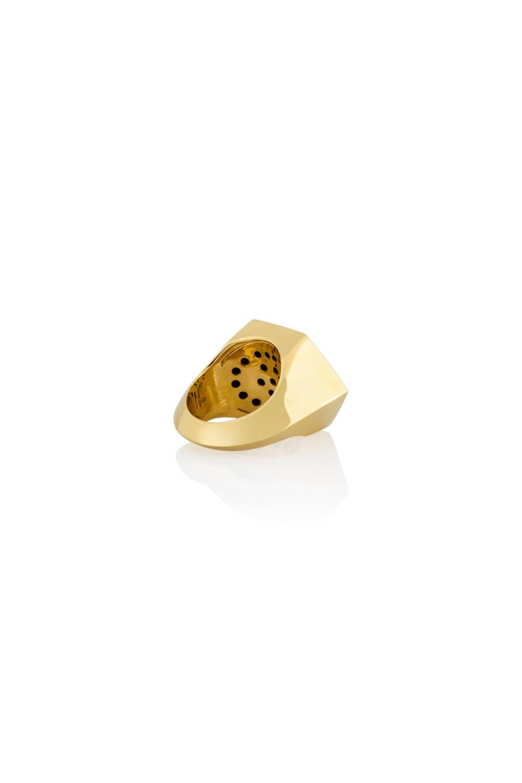 Yellow Gold Hexagonal Parallel Motif Ring