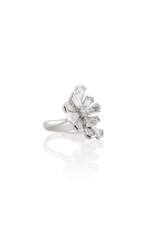 Kite Shaped Diamond Firework Ring