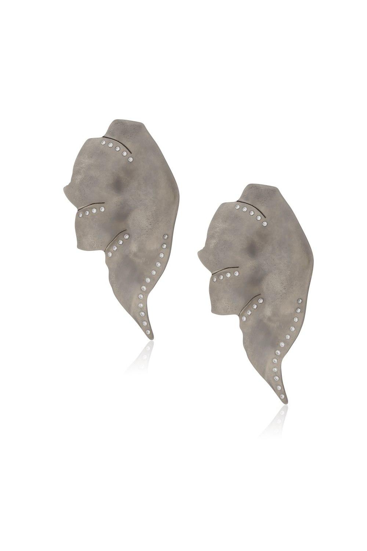 Kessaris-Anastasia Kessaris-Elefun Graphite Titanium Diamond Earrings