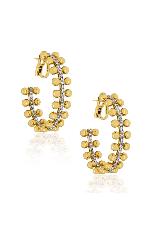 Kessaris-Diamond Gold Hoops