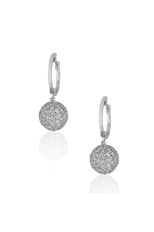 Diamond Gypset Hoop Earrings