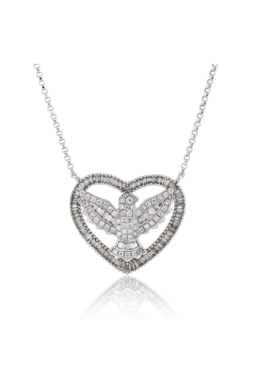 Eagle Diamond Heart Necklace