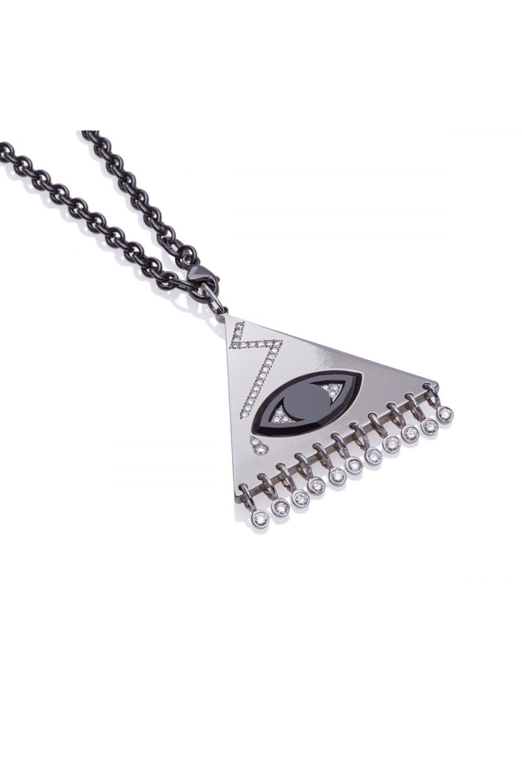Eye Titanium Diamond Pendant