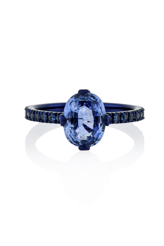 Kessaris-Gold Sapphire Ring